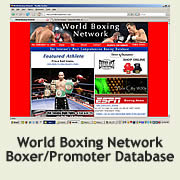 an image of the landing page for world boxing network which was a complete website design from a tampa company.